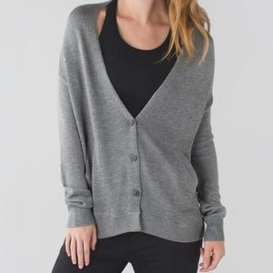 LULULEMON ATHLETICA Cardi In The Front Sweater